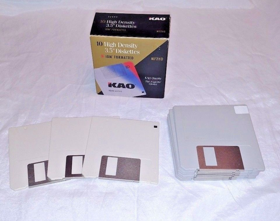"IBM FORMATTED NOS HD DISKETTES 100 NEW 3M 3.5/"" HIGH DENSITY DS"