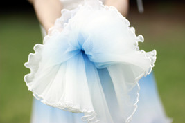 Blue Tiered Tulle Skirt Outfit High Waisted Long Tulle Skirt Holiday Tulle Skirt image 6