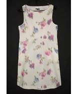 Theory 10 Floral Dress Taffeta Cotton Blend Sheath Fitted - $35.99