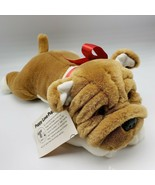 Shar Pei Plush Dog Brown White Puppy Love Teddy Crafters Valentine Wrinkle - $27.00