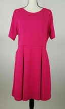 Single Los Angeles Women Dress 1X 1/2 Sleeve A-Line Fit Flare Scoop Pink... - $8.06