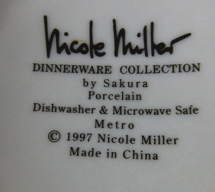 ... NICOLE MILLER Creamer SAKURA Metro Party Dinnerware Collection & Nicole Miller Creamer Sakura Metro Party and 14 similar items
