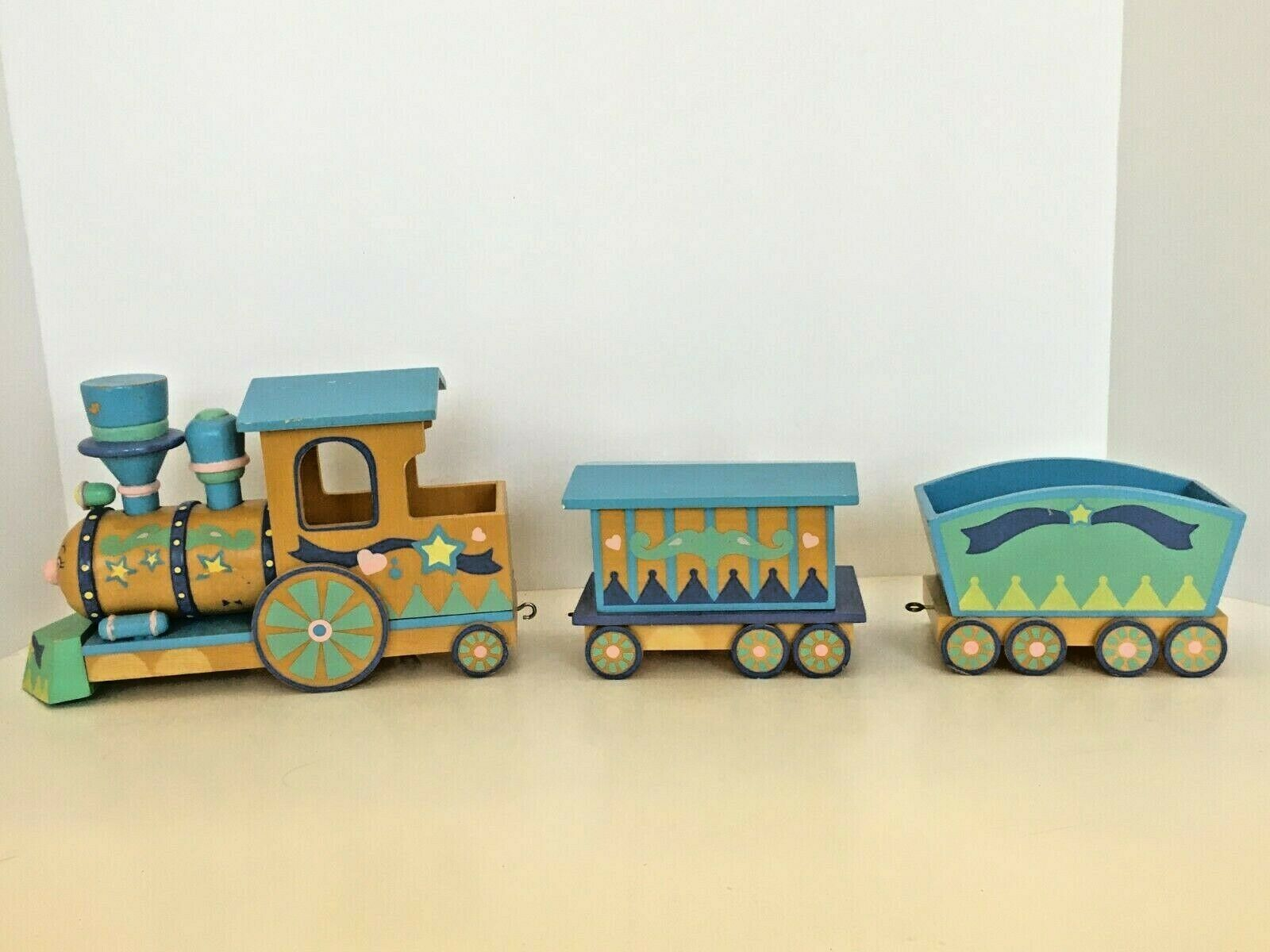 Primary image for San Francisco Music Box Company Wooden Train 1992 Baby Room Home Decor Rare