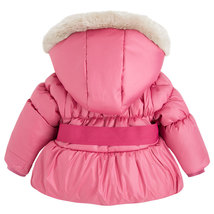 Mayoral Baby Girls Bow Front Puffer Jacket With Removable Hood image 2