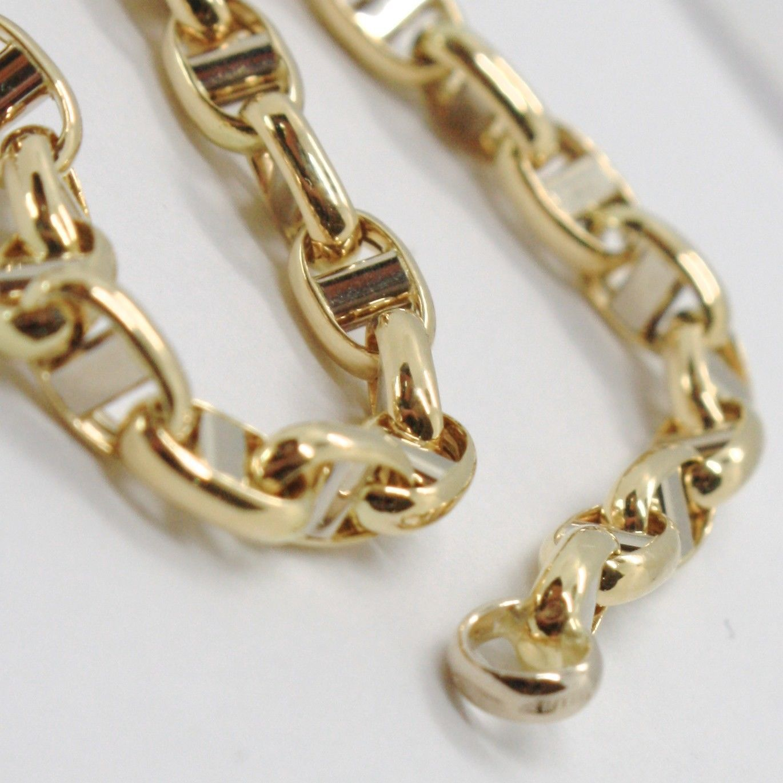 Pulsera de Oro Amarillo y Blanco 18CT 750 de Punto Travesaño