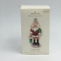 Nutcracker Hallmark Keepsake Noel Christmas Ornament Candy Claus 2008 New - $15.00