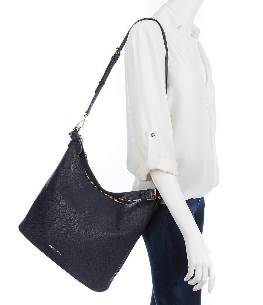 a7c0a17234 S l1600. S l1600. Previous. NWT Michael Kors Lupita Large Leather  Convertible Hobo   Shoulder Bag ...