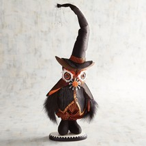 "NWT PIER1 Halloween FABRIC WIZARD OWL  Sculpture Figurine NWT 18"" TALL - $38.61"