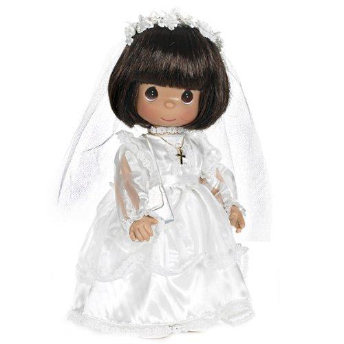 The Doll Maker Precious Moments Dolls, Linda Rick, My First Communion, Brunette,