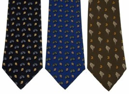 Olimpo  Silk Neckties Lot 3 Leaves Leaf Classic Dress Business Fall Autumn - $4.69