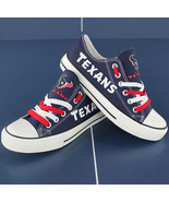 texans shoe converse style texans sneakers women houston tennis shoe cus... - $59.99