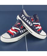 texans shoe converse style texans sneakers women houston tennis shoe cus... - $54.89+