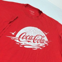 Coca Cola Coke Red T Shirt Sunrise Sunset Ocean Seagull Bird Sz XL - $19.99