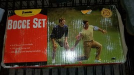 Vintage FRANKLIN Competition series BOCCE BALL Wooden Set ~Outdoor game - $30.00