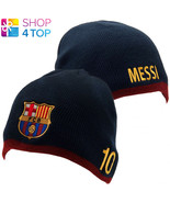 FC BARCELONA MESSI LIONEL KNITTED HAT CAP BEANIE SOCCER FOOTBALL CLUB TE... - $14.15