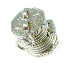 Welded Bliss Sterling 925 Silver Concertina Squeezebox Charm or Pendant ... - $44.10