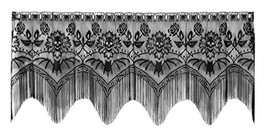 Heritage Lace Gothic Black Lace Halloween Gala 4 Way, Mantle Scarf, Lamp... - $34.12