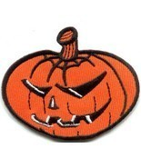 Jack-o'-lantern pumpkin Celtic Halloween Samhain applique iron-on patch ... - £2.20 GBP