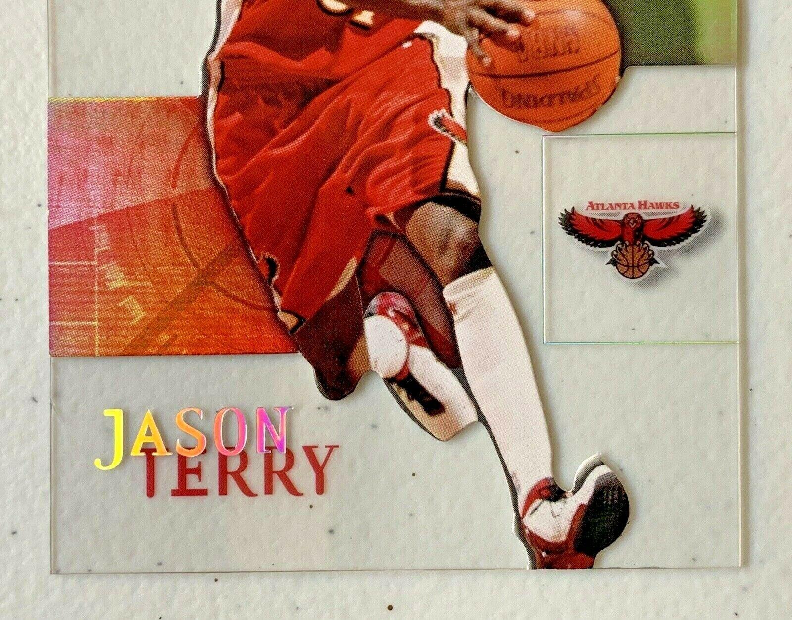 Jason Terry Now/66 #65 Atlanta Hawks Fleer Basketball Card with Hard Case 31G image 4