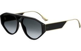 Christian Dior Clan1 807 Black Gold Frame Grey Lens Sunglasses NEW AUTHENTIC  - $199.95