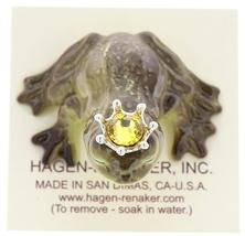 Hagen-Renaker Miniature Frog Prince Kissing Birthstone 11 November Topaz image 5