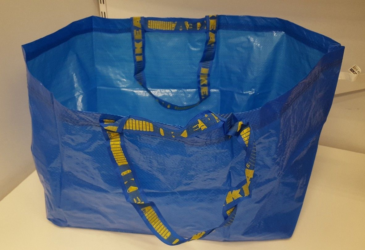 Primary image for 1 blue IKEA FRAKTA Storage carry Bag *fits19 Gallons* Sturdy!!! New & Unused!