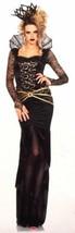 Leg Avenue Deluxe Evil Queen Sexy Halloween Costume Cosplay Black Dress ... - $39.39