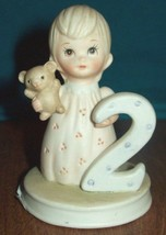 LEFTON THE CHRISTOPHER COLLECTION BIRTHDAY GIRL FIGURINE AGE 2 - $20.78
