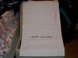 MARC JACOBS  Huge 15x25 White travel/storage/handbag dust bag cover  Cotton - $15.83