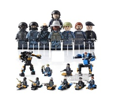 Forces Military SWAT Army Weapon Soldier Marine Building Blocks Toys - $22.46