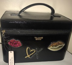 Victoria's Secret Hard Train Case Makeup Bag Runway Patch Vanity LIMITED EDITION - $44.06