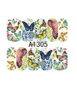 Water Transfer Watermark Art Nails Decal Sticker Manicure Butterfly Flow... - $1.83
