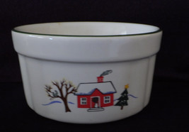 "Pfaltzgraff ""Snow Village"" Dip, or relish dish, Christmas scenes - $9.99"