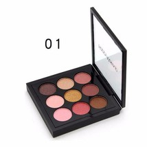 Happy Makeup 9 Colors Eye Shadow Palette Compact Matte Shimmer Eyeshadow... - $7.99