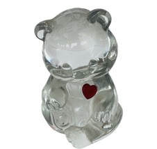 Fenton Art Glass Birthday Teddy Bear July Ruby Red birthstone Figurine G... - $29.65