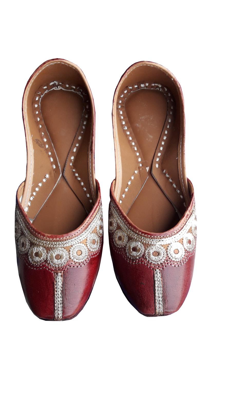 punjabi jutti bridal shoes,indian shoes, traditional shoes USA-9               - $29.99