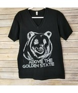 American Apparel Mens Above The Golden State V Neck T-Shirt Cotton M  - £11.11 GBP