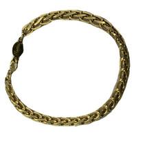 "Vintage Napier Gold Tone  Bracelet Tennis Linked 7"" Smooth Shiny - $13.98"