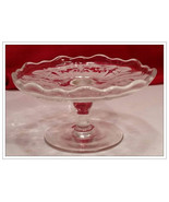 Fostoria Baroque Shape  Navarre Clear  Cheese Stand - $25.00