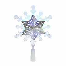 Brand New Kurt Adler SIL/BLU Projection Led White Lights Christmas Tree Topper - $39.59