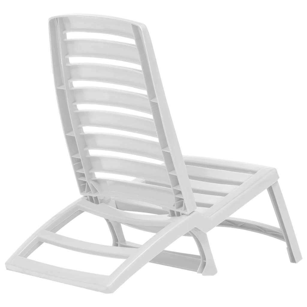 vidaXL 4x Folding Beach Chairs Plastic Beach Seat Outdoor Chair Multi Colors image 4