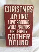 Classic Christmas Holiday Decor Mantle Table Wall Decoration Sign/Plaque - $21.59