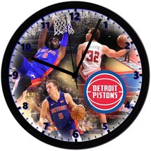 "Detroit Pistons Homemade 8"" NBA Wall Clock w/ Battery Included - $23.97"