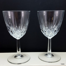 Cristal D'Arques Diamant Claret Wine Glasses Set of 2 Diamond Vertical Cut 6 oz - $11.88