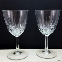 Cristal D'Arques Diamant Claret Wine Glasses Set of 2 Diamond Vertical Cut 6 oz - $11.88