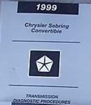 1999 Chrysler Sebring Convertible Transmission Shop Service Manual Diagnostics - $9.08