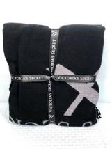 Victorias Secret Throw Blanket Black Breast Cancer Fringed NEW Open Pkg ... - $44.55