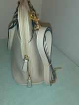 $129 Gianni Bernini Turnlock Glazed Dome Satchel Ivory (Ivory). new with tags image 7