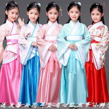 Chinese Kids Dress Tang Dynasty Ruqun Hanfu Suit Cosplay Gown Han  Girls... - $30.99