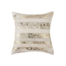 """HomeRoots Kitchen 18"""" x 18"""" x 5"""" Natural and Gold Decorative Throw Pillow - $71.31"""